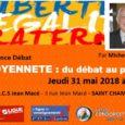 """Le 31 mai 2018 la Ligue de l'Enseignement et le Cercle Condorcet Stéphanois ont organisé une Conférence débat de Michel Miaille : """"Citoyenneté : du débat au projet"""" (Pour plus […]"""